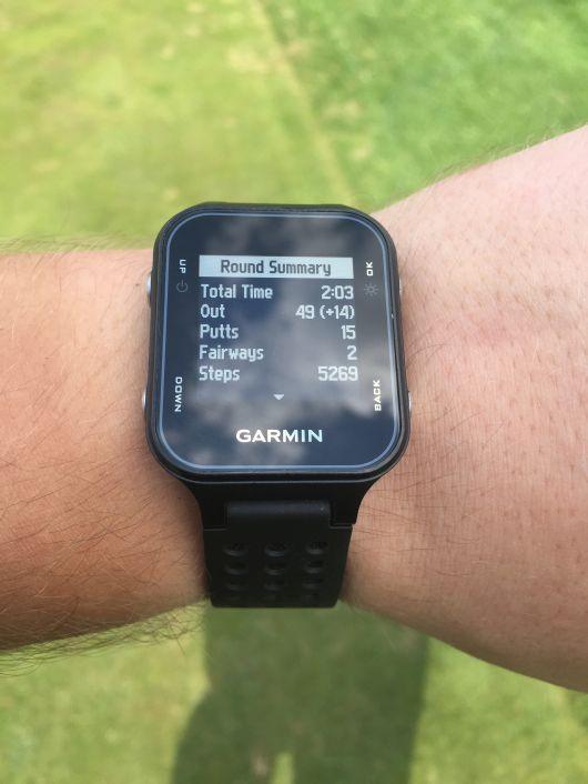 Testy sprzętu golfowego - zegarek Garmin S20 5