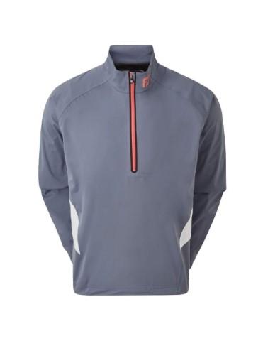 footjoy hydroknit 12 zip kurtka golfowa szara