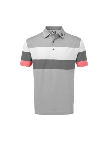 footjoy polo engineered birdseye pique koszulka golfowa szara 1