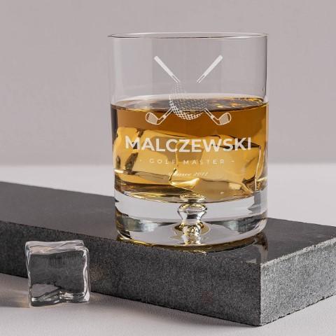 grawerowana szklanka do whisky golf master 62656 m